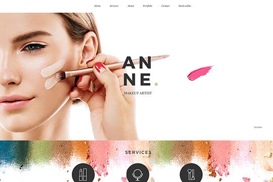 makeup artist portfolio website
